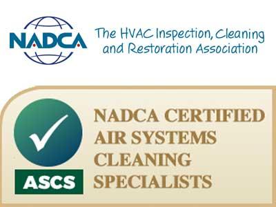 NADCA certified ASCS technicians